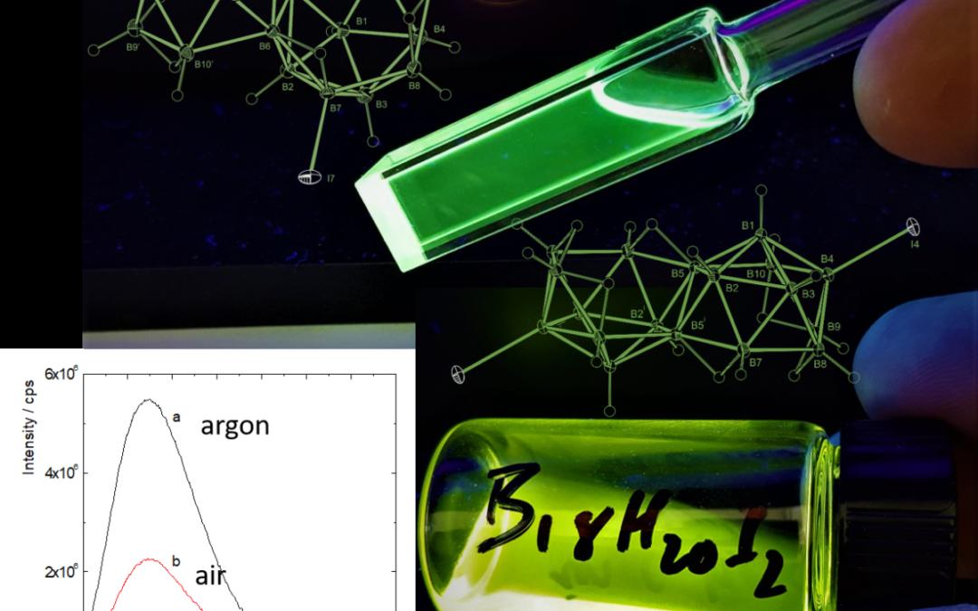 Effect of Iodination on the Photophysics of the Laser Borane anti-B18H22: Generation of Efficient Photosensitizers of Oxygen